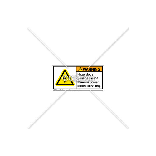 Warning/Hazardous Voltage Label (84250-581)