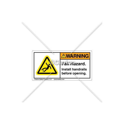 Warning/Fall Hazard Label (C18486-05)