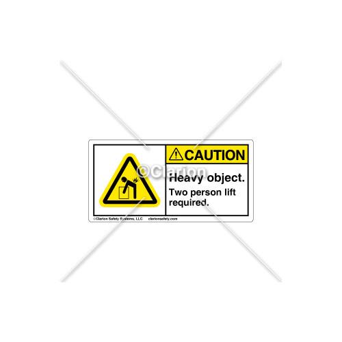 Caution/Two Person Lift Label (C18486-06)
