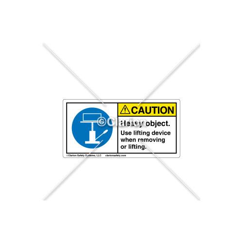 Caution/Heavy Object Label (C18486-07)
