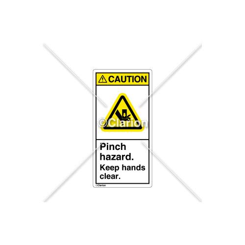 Caution/Pinch Hazard Label (C18486-02)