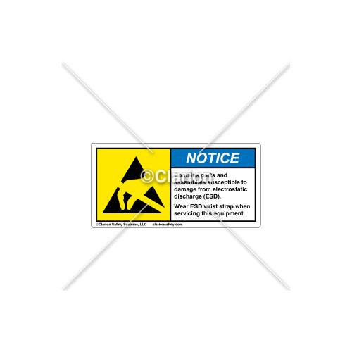 Notice/Contains Parts Label (H6131-P53NHPK)