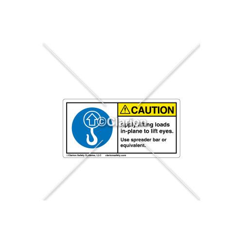 Caution/Apply lifting loads Label (C18486-19)