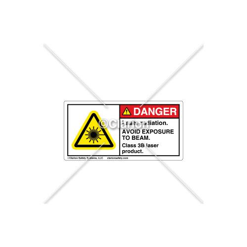 Danger/Laser Radiation Label (C18486-20)