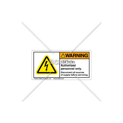 Warning/120 Volts Label (C18486-26)