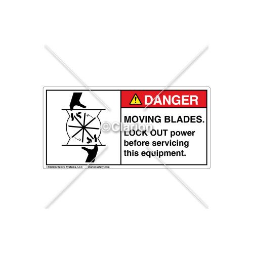 Danger/Moving Blades Label (C7835-01)