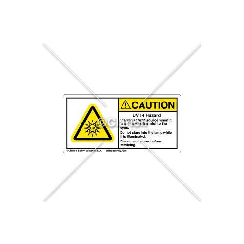 Caution/UV IR Hazard Label (H6123-494CHPK)