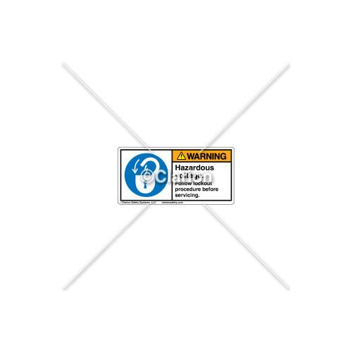 Warning/Hazardous Voltage Label (H6011-19WHPL)