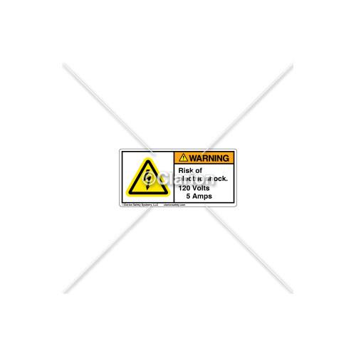 Warning/Risk Of Electric Shock Label (H6010-CEWHPL)
