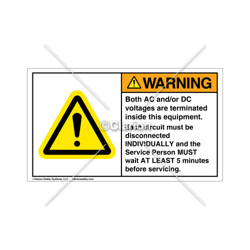 Warning/Both Ac And/Or Dc Label (H6014-503WHP-N8)
