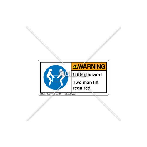 Warning/Lifting Hazard Label (H6147-P88WHPK)