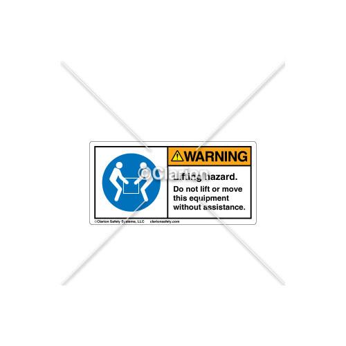 Warning/Lifting Hazard Label (0084953-000)