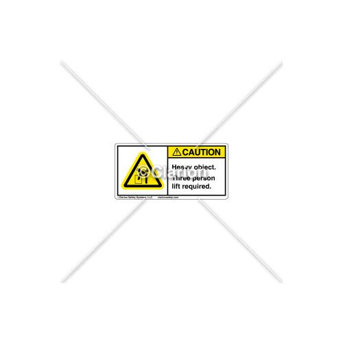Caution/Heavy Object Label (8195-87CHPL)