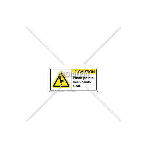 Caution/Pinch Point Label (C28673-02)