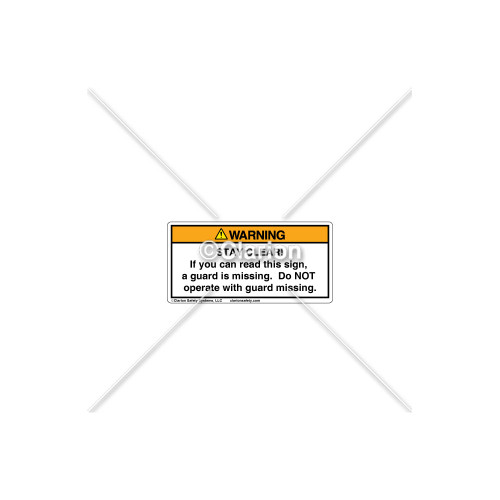 Warning/Stay Clear Label (8034-S4WHPL Wht)