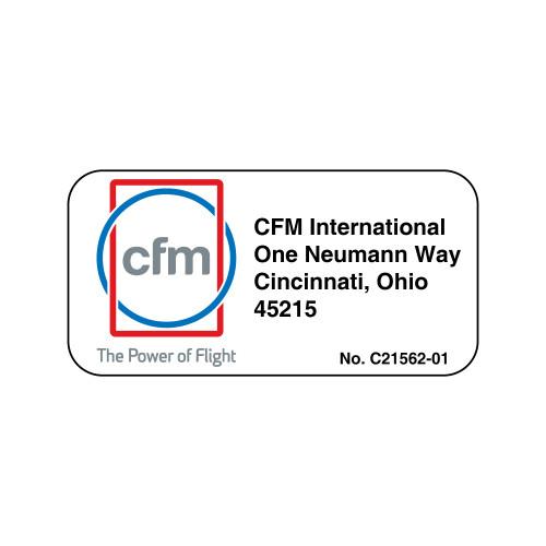 CFM International Label (C21562-01)