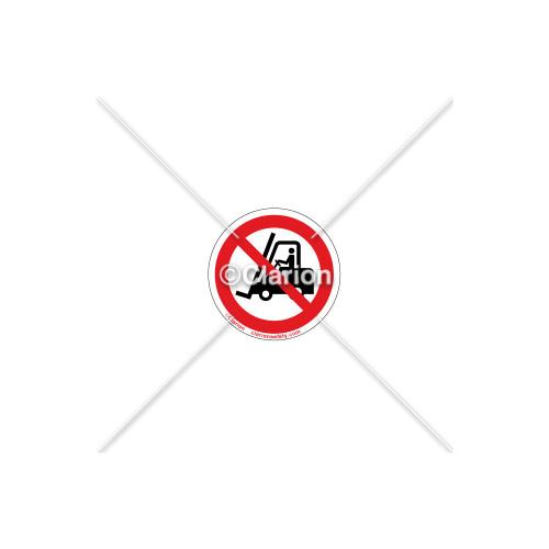 No Forklift Label (IS6304-PB)