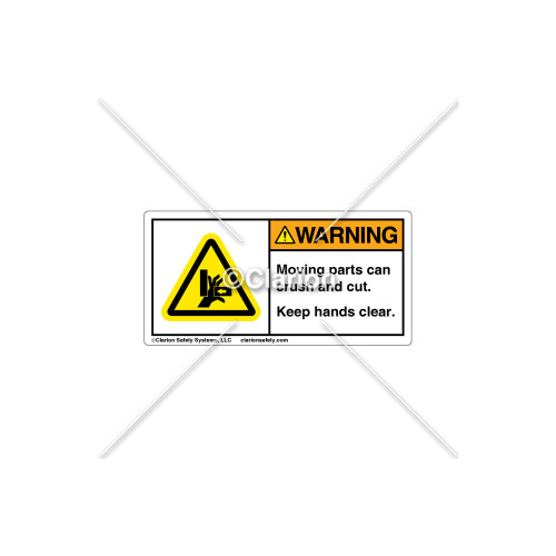 Warning/Moving Parts Label (H1042-BV4WHPK)