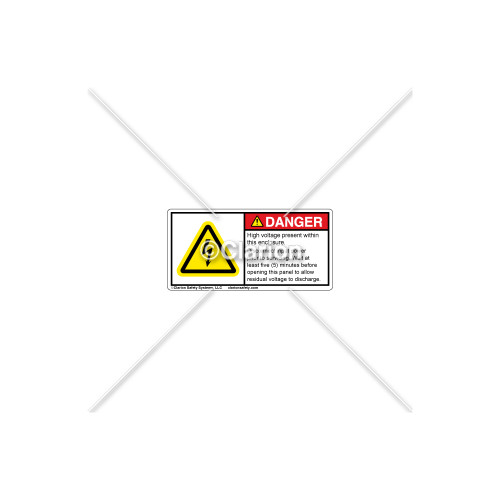 Danger/High Voltage Present Label (H6010-H69DHPL)