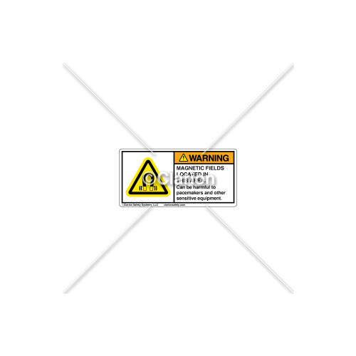 Warning/Magnetic Field Label (H6048-275WHPL)
