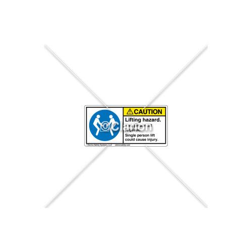 Caution/Lifting Hazard Label (H6147-D08CHPL)
