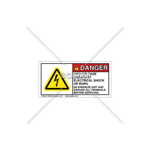 Danger/High Voltage Hazard Label (C25418-03)