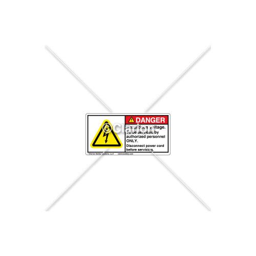 Danger/Hazardous Voltage Label (C30609-02)