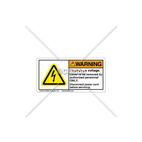 Warning/Hazardous Voltage Label (C30609-01)