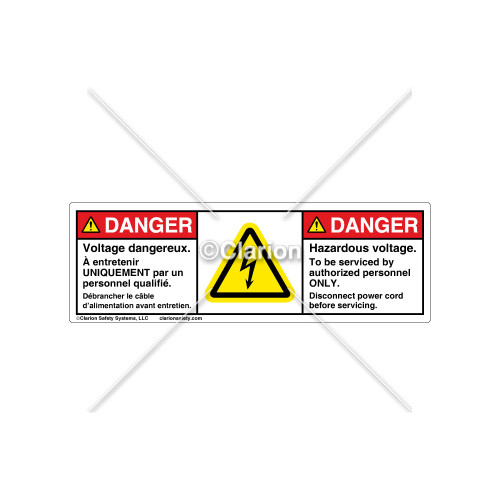 Danger/Hazardous Voltage Label (C30609-08)