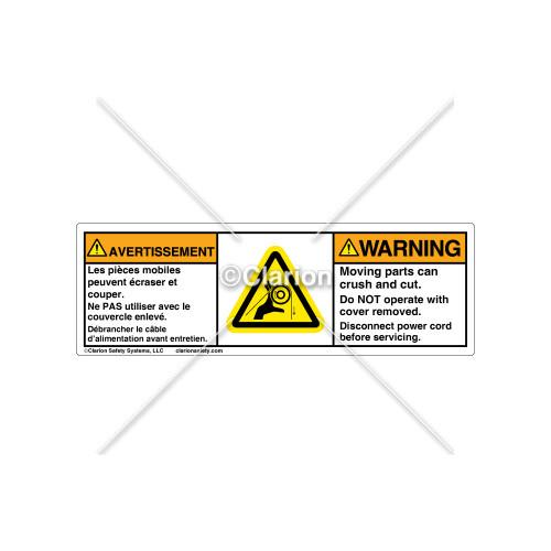 Warning/Moving Parts Label (C30609-09)