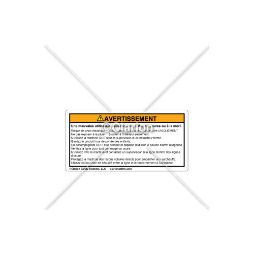 Warning/Inappropriate Use Label (C30609-10)