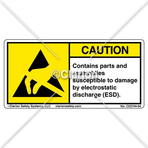 Caution/Contains Parts Label (C23744-04)