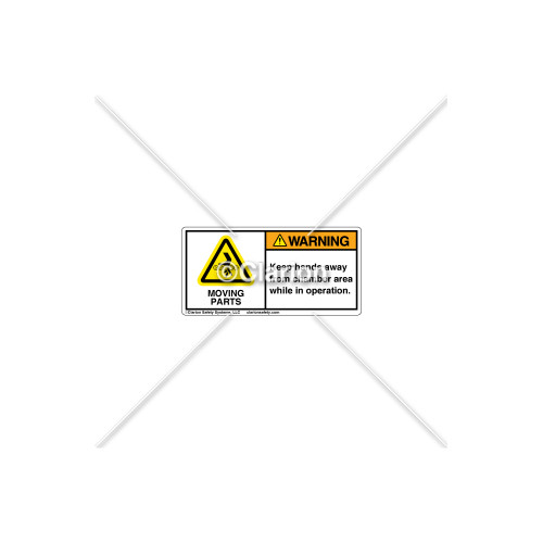 Warning/Moving Parts Label (H1020-AWWHPL)