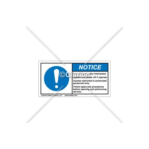 Notice/Door is Electrically Label (C8571-40)