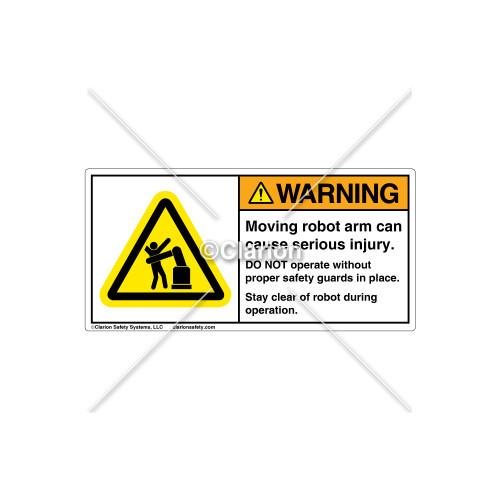 Warning/Moving Robot Arm Label (H5166-V83WHPJ)