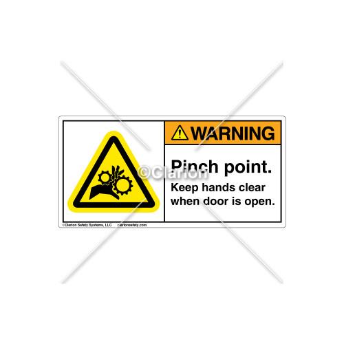 Warning/Door Open Label (H1014-265WHPJ)