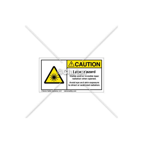 Caution/Laser Hazard Label (67-123469A26)