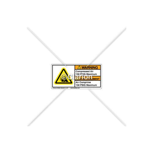 Warning/Compressed Air Label (C7406-07)