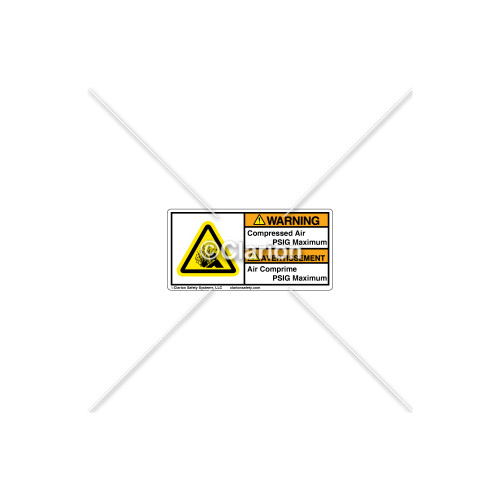 Warning/Compressed Air Label (C7406-08)