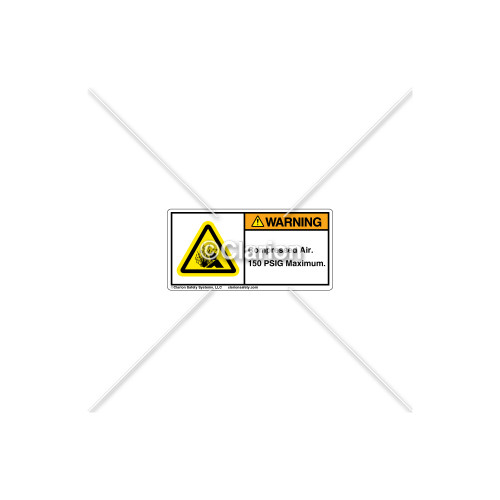 Warning/Compressed Air Label (H4005-T92WHPL)