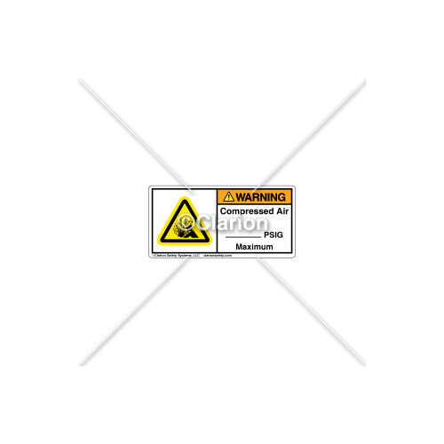 Warning/Compressed Air Label (C7406-03)