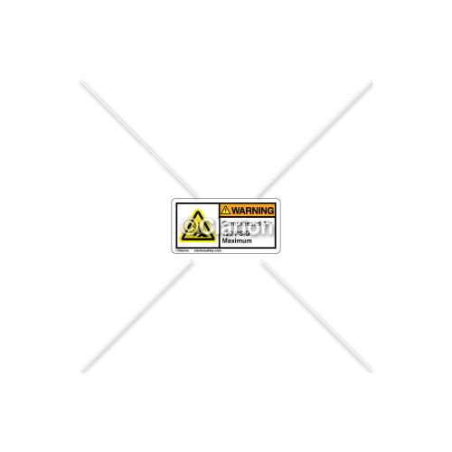 Warning/Compressed Air Label (C7406-05)
