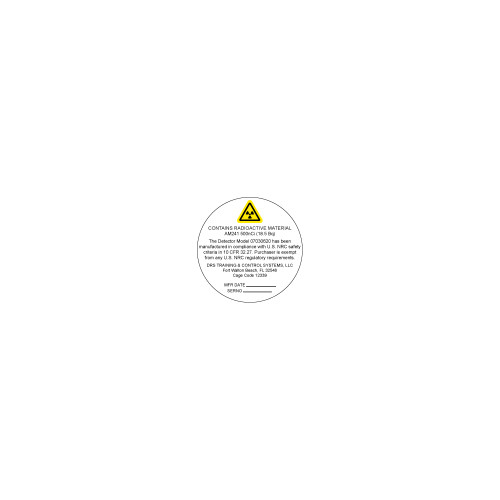 Contains Radioactive Material Label (07030624-1)