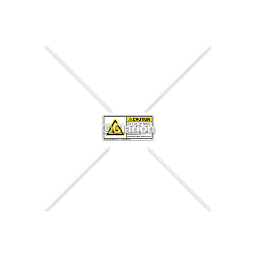 Caution/Risk of Explosion Label (H6006-J86CHPL)