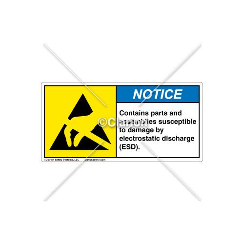 Notice/Contains Parts Label (H6131-382NHBL)