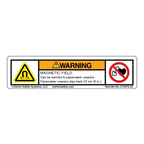 Warning/Magnetic Field Label (C14972-22)