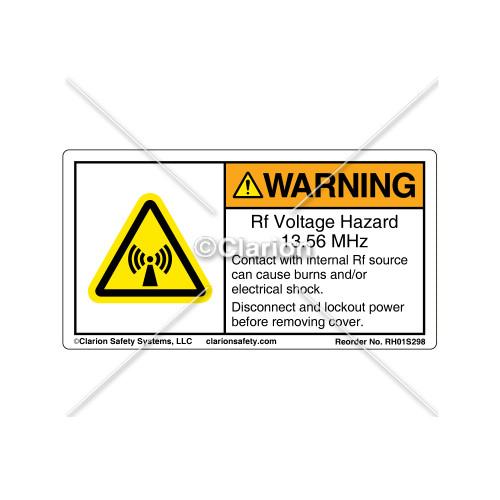 Warning/Rf Voltage Hazard Label (RH01S298)