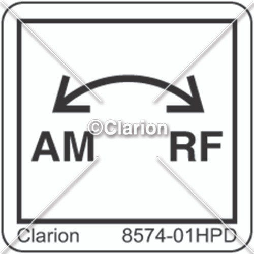 AM RF Label (8574-01HPD)