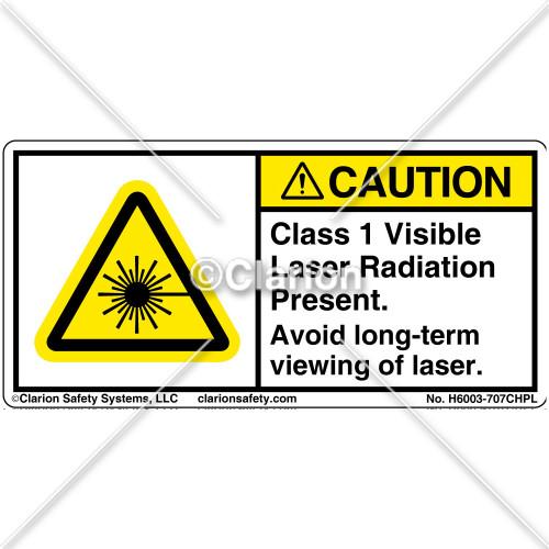 Caution/Class 1 Laser Label (H6003-707CHPL)