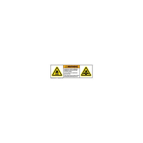 Warning/Hazardous and Flammable (C19341-01)